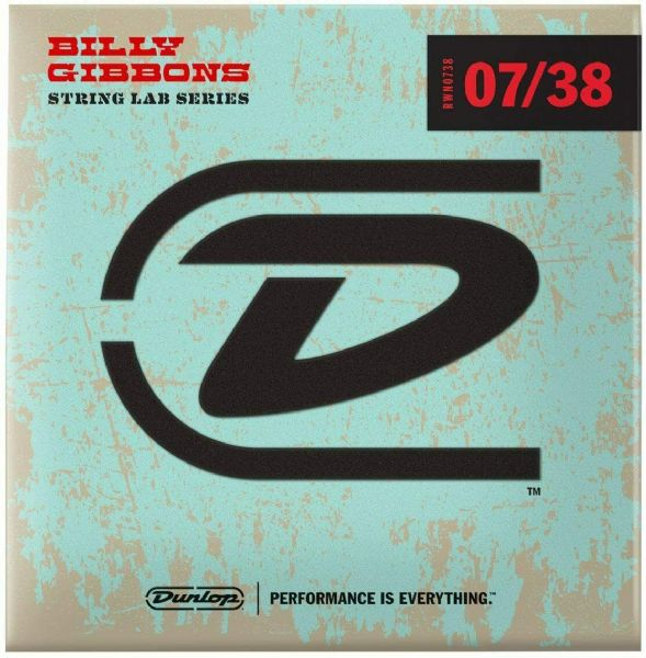 Jim Dunlop RWN0738 Billy Gibbons Rev. Willy's Electric Guitar Strings 07/38
